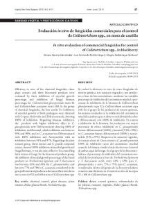 Evaluación in vitro de fungicidas comerciales para el control de Colletotrichum spp., en mora de castilla