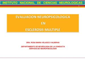 EVALUACION NEUROPSICOLOGICA EN ESCLEROSIS MULTIPLE