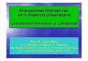Evaluaciones Alternativas en la Docencia Universitaria