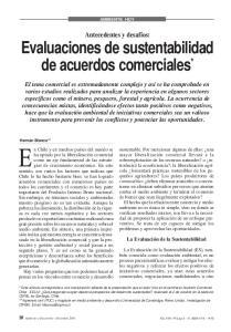 Evaluaciones de sustentabilidad de acuerdos comerciales *