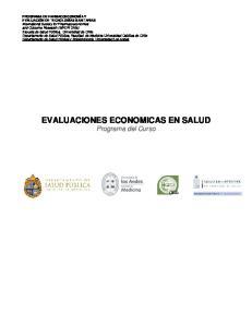 EVALUACIONES ECONOMICAS EN SALUD