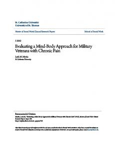 Evaluating a Mind-Body Approach for Military Veterans with Chronic Pain