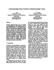 Evaluating Design Project Creativity in Engineering Design Courses