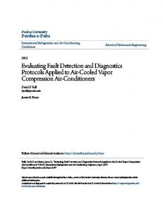 Evaluating Fault Detection and Diagnostics Protocols Applied to Air-Cooled Vapor Compression Air-Conditioners