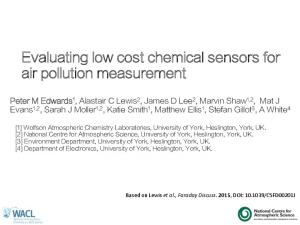 Evaluating low cost chemical sensors for air pollution measurement