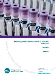 Evaluating measurement uncertainty in clinical chemistry. Case studies
