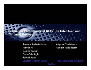 Evaluating Performance of BLAST on Intel Xeon and Itanium2 Processors