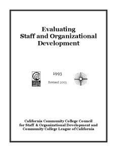 Evaluating Staff and Organizational Development