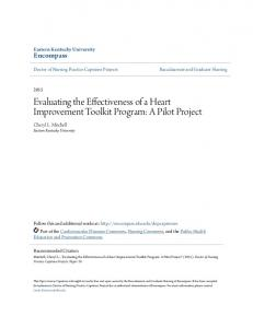 Evaluating the Effectiveness of a Heart Improvement Toolkit Program: A Pilot Project