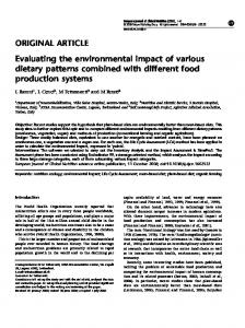 Evaluating the environmental impact of various dietary patterns combined with different food production systems