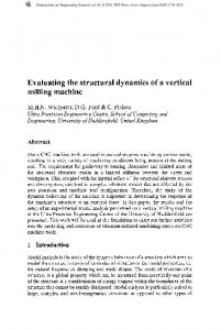 Evaluating the structural dynamics of a vertical milling machine