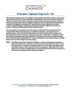 Evaluation Capacity Diagnostic Tool