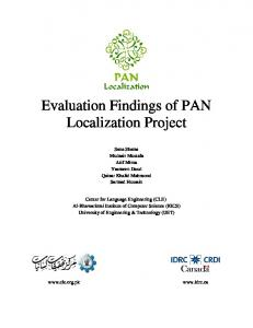 Evaluation Findings of PAN Localization Project