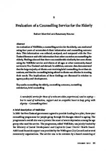 Evaluation of a Counselling Service for the Elderly
