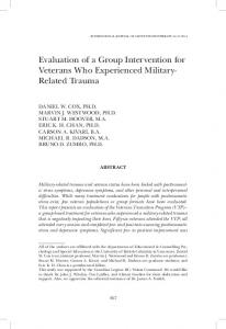 Evaluation of a Group Intervention for Veterans Who Experienced Military- Related Trauma