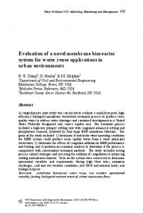 Evaluation of a novel membrane bioreactor system for water reuse applications in urban environments