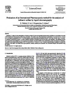 Evaluation of an International Pharmacopoeia method for the analysis of indinavir sulfate by liquid chromatography