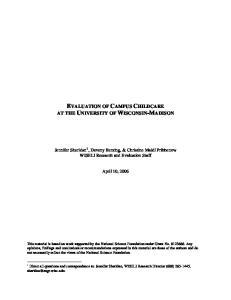 EVALUATION OF CAMPUS CHILDCARE