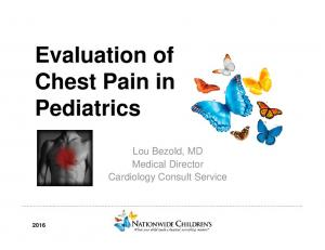 Evaluation of Chest Pain in Pediatrics