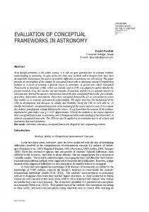 EVALUATION OF CONCEPTUAL FRAMEWORKS IN ASTRONOMY
