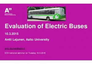Evaluation of Electric Buses