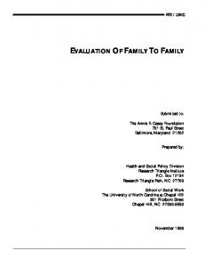 EVALUATION OF FAMILY TO FAMILY