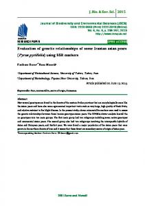 Evaluation of genetic relationships of some Iranian asian pears (Pyrus pyrifolia) using SSR markers
