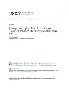 Evaluation of Highly Efficient Distribution Transformer Design and Energy Standards Based on Load