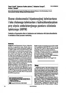 Evaluation of hypotensive effect of telmisartan and telmisartan with hydrochlorothiazide in ambulatory blood pressure monitoring