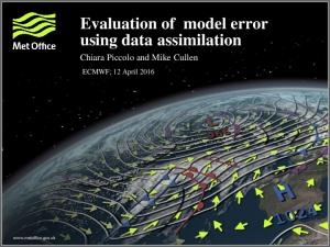 Evaluation of model error using data assimilation