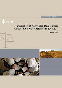 Evaluation of Norwegian Development Cooperation with Afghanistan Final Report