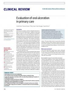 Evaluation of oral ulceration in primary care