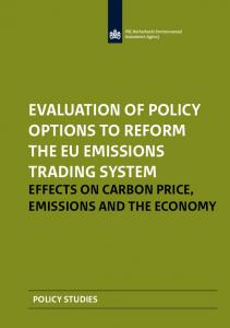 Evaluation of policy options to reform the EU Emissions Trading System Effects on carbon price, emissions and the economy