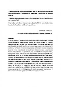 Evaluation of productive and economic parameters, using different levels of full fat soy in broilers food