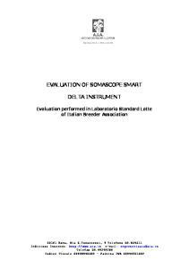 EVALUATION OF SOMASCOPE SMART DELTA INSTRUMENT