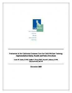 Evaluation of the California Common Core for Child Welfare Training: Implementation Status, Results and Future Directions