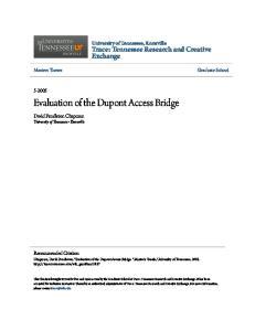 Evaluation of the Dupont Access Bridge