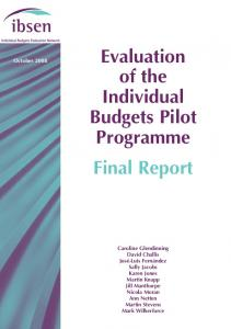 Evaluation of the Individual Budgets Pilot Programme Final Report