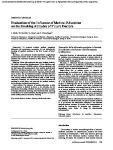 Evaluation of the Influence of Medical Education on the Smoking Attitudes of Future Doctors