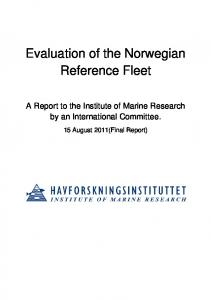 Evaluation of the Norwegian Reference Fleet