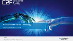 Evaluation of Wireless Technology