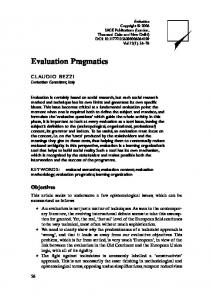 Evaluation Pragmatics