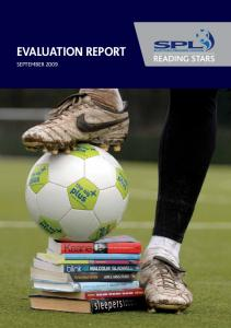 EVALUATION REPORT SEPTEMBER 2009