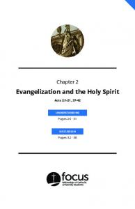 Evangelization and the Holy Spirit