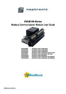 EVCB14N Series Modbus Communication Module User Guide