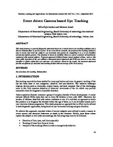 Event driven Camera based Eye Tracking