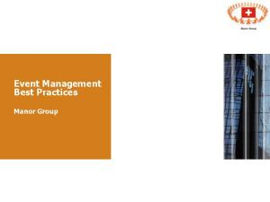 Event Management Best Practices