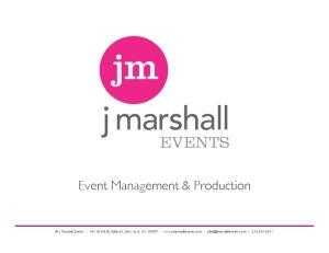 Event Management & Production