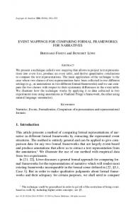 Event mappings for comparing formal frameworks for narratives