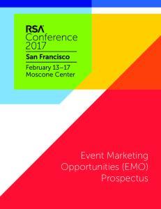 Event Marketing Opportunities (EMO) Prospectus
